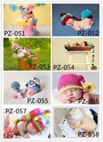 Boy Summer Crochet Hats Toddler CCrochet Knit Cotton Handmade crochet Hat Newborn handmade Knitted Girls Infant Costume Photogragh outfits Hat