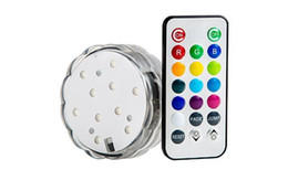 Factory Price Directly remote controlled submersible led light for decorations battery operated remote controlled submersible led light