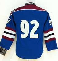Wholesale Youth Kids Gabriel Landeskog Blue American Premier Hockey Jerseys Ice Winter Home Away Jersey Stitched Authentic Mix Order