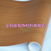 Wholesale home decor Pvc wood grain thickening boeing film wallpaper kitchen cabinet wardrobe furniture stickers wooden door