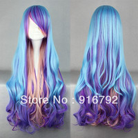 Wholesale cm Long Multi Color Beautiful lolita wig Anime Wig A