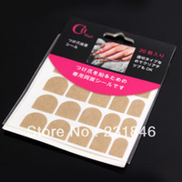 Decal 2D Metal 10 pack False French Nail Art Full Tips Double Sided Adhesive Glue Sticky Tape Women Fashion