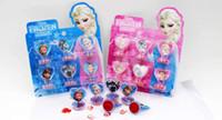 Wholesale 24 Sets Frozen Princess Toys stamper set Frozen Figures Seal Children s Toys A0662