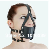 open mouth gag - good quality woman leather open mouth gag mask