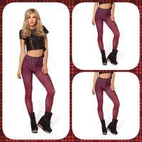 Leggings Skinny,Slim Women New 2014 summer women Fashion Red Fish scales Printed galaxy leggings D115