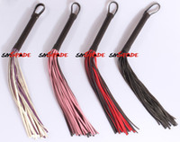 Wholesale 35CM MINI Handmade Horse whip artificial leather flogger black spanking whip drop shipping