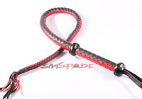 Yes flogger - Horse whip Genuine leather flogger black amp red leather whip Drop shipping Knout