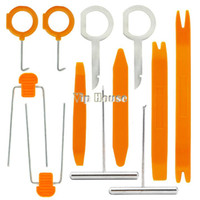 Wholesale Top Quality Orange Plastic amp Alloy Car Radio Stereo Dash Removal Install Tools Kit For Different Vehicles b007