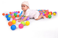 Wholesale 50Pcs cm Colorful Ball Fun floating water ball Soft Plastic Ocean Ball Baby Kid Swim Pool Pit Toy