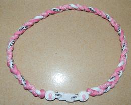 Ruban rose sein à vendre-Collier Titane sportif avec Échec au Ruban Rose pour collier de cancer du sein