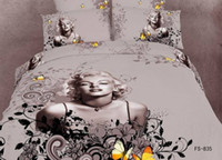 other Cotton Twill marilyn monroe bedding set Painting coverlet bedsheet bed sheet bedding set queen king size bed cover home textile pillowcase