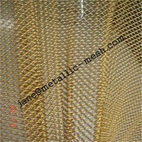 mesh decorative wire - factory best quality Decorative wire mesh woven metal curtain hanging