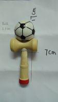 Wholesale cm big size Funny Japanese Traditional Wood Game Toy Kendama Ball Soccer Football Print kendama407