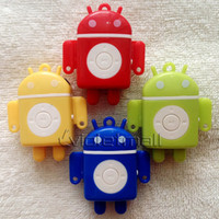 Wholesale Portable Robot MP3 Player MP3 Players colorful sports MP3 Player Fashion design MP3 Players