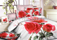 other Cotton Twill Bedspread Sheet red rose Pillow 4pcs Bedding Sets Cases 3d Bedding Sets vivid Duvet Cover Set Queen and king size coverlet*