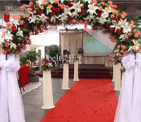 Wholesale 2014 New Red Wedding Carpet Red Nonwoven Fabric Carpet M Wide wedding Runner For Wedding Party Decoration Meters roll