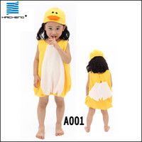 Wholesale duck costume animal Lovely dress Kids Halloween and Christmas costumes kids performance clothing