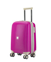Wholesale Rose Red Travel Trolley Zipper Luggage quot quot quot Boarding Case Set Hard Case Light Weight Suitcase Carry on PP Bag With Air Wheel