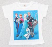 Summer Frozen Elsa Anna Half Sleeve T Shirt Cartoon Children...