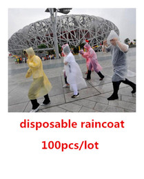 Wholesale Disposable PE Raincoats Poncho Rainwear Travel Rain Coat Rain Wear gifts mixed colors