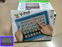 achat en gros de l'ordinateur 14-Ypad Machine d'apprentissage Ordinateur Y-pad Table Machine d'apprentissage Anglais Ordinateur pour enfants Enfants Jouets éducatifs Musique + Led
