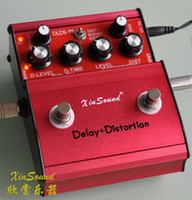 Wholesale XinSound DLDS Distortion Delay STOMP COMBO THREE WAY for TOGGLE OPTIONS and True Bypass