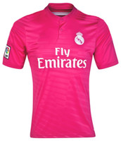 Wholesale Reals Madrid Away Pink Soccer Jerseys Top Thailand Quality Club Team New Jersey Football Shirts Hottest Football Kits Sports Wear