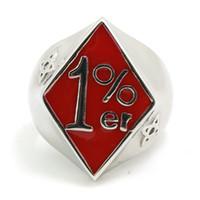 biker rings - 2014 Very Popular New Design L Stainless Steel Red er Ring Biker Style Ring Motor biker Ring Price