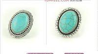 Wholesale Mixed Big Turquoise Rings Tibetan Turquoise Rings per