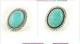 Wholesale Mixed Big Turquoise Rings Tibetan Turquoise Rings per