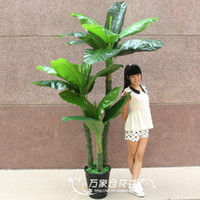 Wedding Decorative Flowers & Wreaths Floor Mounted Artificial flower bonsai plastic fake tree French flowers decoration flower plant 2 meters rod rich tree