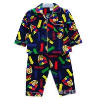 Regular Men Robe JAK brand children's clothing kids boys cotton woven flannel pajamas Pyjamas Tops + Pants Set (2-6T)