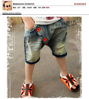 Wholesale Children clothing summer boys brand jeans five pants Pentagram Button dandys