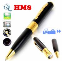 HM8 16GB 1280 * 960 AVI HD agujero de alfiler 16GB espía de la pluma de la cámara ocultos de la pluma DVR 16GB Micro SD se incluye la cámara ocultada DV