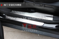 Wholesale high quality Mitsubishi Outlander stainless steel door sill plate auto accessories