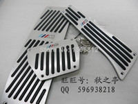 Wholesale Excellent Aluminum Alloy Non slip car Pedal pad Pedal Set for Series E34 E39 E60 E61 F10 F11 E63 E64 F12 F13 M AT