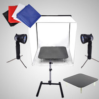 Wholesale Photography Studio Cube Tent Softbox Light Stand Backdrops Kit cm Firing table