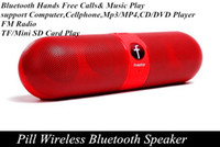 Wholesale 2014 mini Pill Wireless Portable Speaker Bluetooth nfc Audio speakers Sounds loudly AAA quality