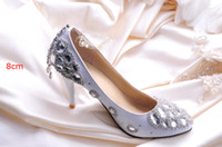 Wedding Heels Low Heel 2014 Free Shipping Silver Crystal Woman Wedding Dress Shoes Woman Bridal Shoes Lady Rhinestone Party Prom Shoes High Heel Shoes