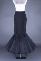 New Hot Sell Black Fishplate Mermaid Wedding Petticoat Brida...