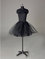 3 Layers Black Short Cocktail Hoopless Wedding Petticoat Bri...