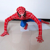 Unisex animals cartoon images - Adult Spiderman Mascot Costume Spider man Party CLothing Cartoon Character Carnival Christmas Fancy Dress Real Images