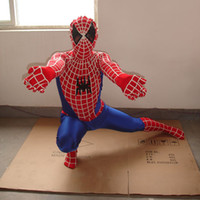 Wholesale Spider Man Mascots - Adult Size Spiderman Mascot Costume Christmas Party CLothing Mascot Spider man Fancy Dress Free Shipping Free Size
