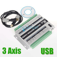 Wholesale Upgrade Axis USB CNC Motion Control Card Mach3 Breakout Board KHz Support Windows CF