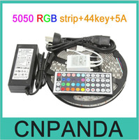 Wholesale Popular LED Strip Colorful ft SMD M Leds RGB LED Light Strip Waterproof with key IR Remote Controller And A EU US AU UK Plug
