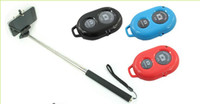 Wholesale Camera Bluetooth Remote Control Self timer Shutter Camera Monopod With Phone Clip Mount For iPhone Samsung Android IOS
