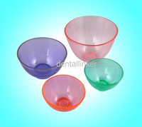 Diameter 13cm, Depth 9cm ( 2*Samll, 1*Medium large, 1*Big)  Diameter 11cm, Depth 6.5cm 4 pcs Rubber Mixing Bowl 2 Small 1 Medium 1 Big Dental Lab Flexible Lab Equipment Bowl