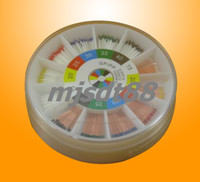 Round Box Packages absorbent paper points - Dental Gutta Percha Points and Absorbent Paper Points Mixed Round Box Packages