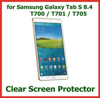 Wholesale 1000pcs LCD Screen Protector for Samsung Galaxy Tab S T700 T701 T705 No Retail Package Protective Film
