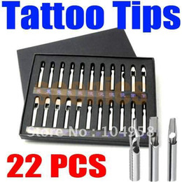 Wholesale FT RT DT Pro Tattoo Supply Stainless Steel Tips Nozzles Kit Set for Grip Machine amp Drop Shipping